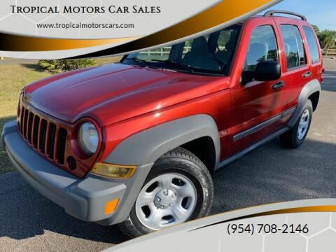 2006 Jeep Liberty for sale at Tropical Motors Car Sales in Deerfield Beach FL