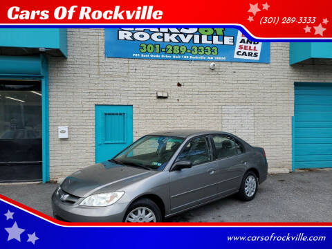 2005 Honda Civic for sale at Cars Of Rockville in Rockville MD