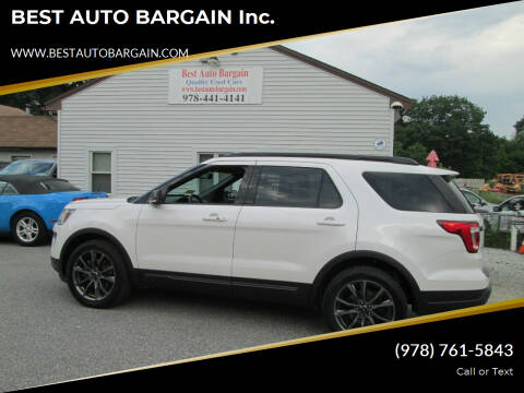 2018 Ford Explorer for sale at BEST AUTO BARGAIN inc. in Lowell MA