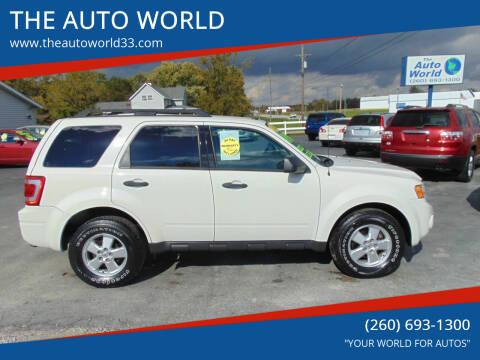 2012 Ford Escape for sale at THE AUTO WORLD in Churubusco IN