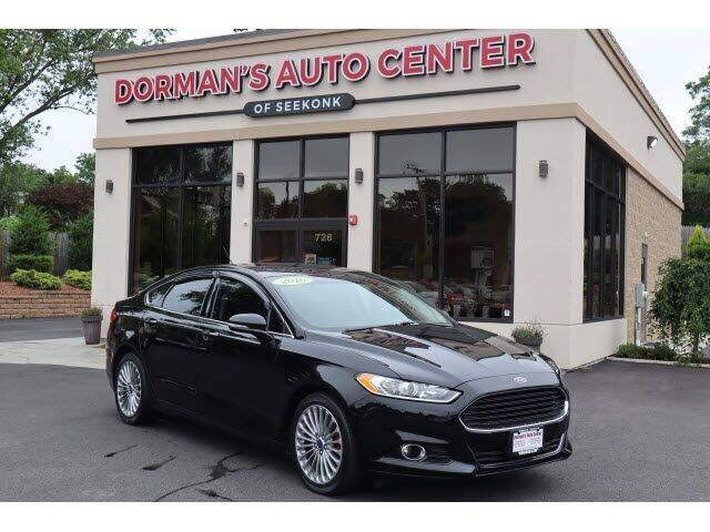 2016 Ford Fusion for sale at DORMANS AUTO CENTER OF SEEKONK in Seekonk MA