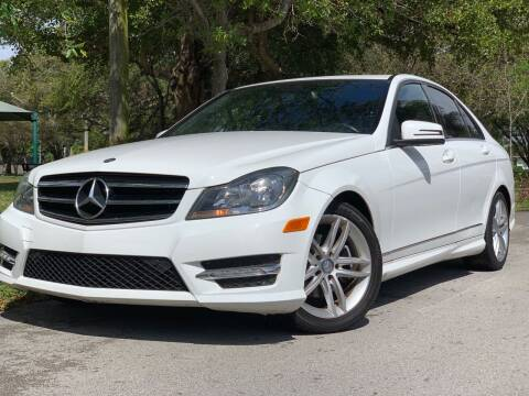2014 Mercedes-Benz C-Class for sale at HIGH PERFORMANCE MOTORS in Hollywood FL