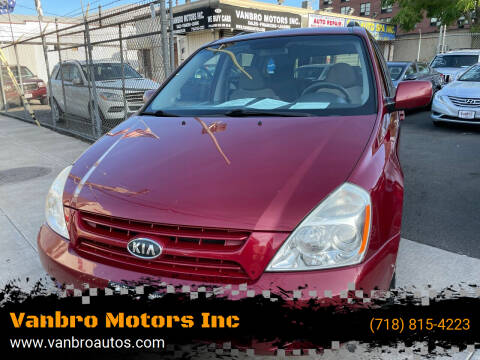 2010 Kia Sedona for sale at Vanbro Motors Inc in Staten Island NY