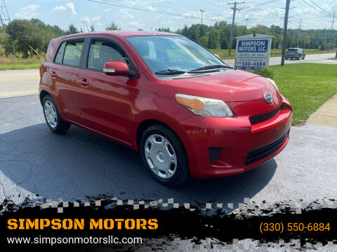 2010 Scion xD for sale at SIMPSON MOTORS in Youngstown OH
