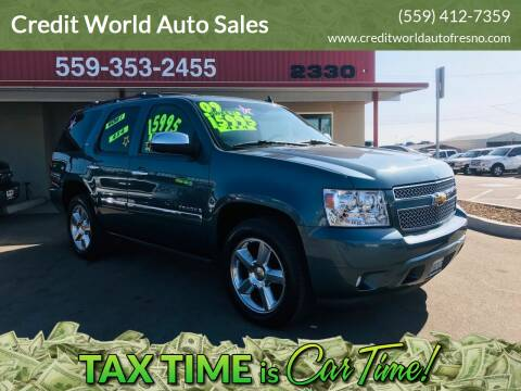 2009 Chevrolet Tahoe for sale at Credit World Auto Sales in Fresno CA