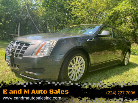 2012 Cadillac CTS for sale at E and M Auto Sales in Elgin IL