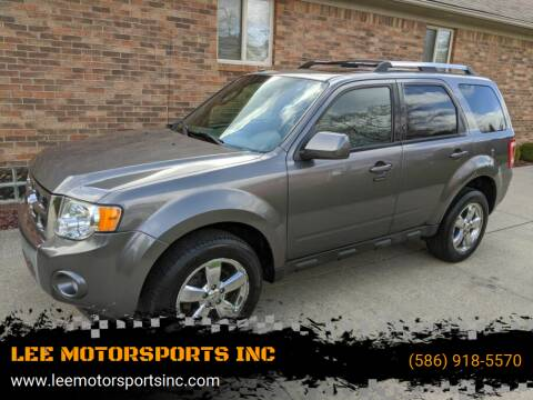 2009 Ford Escape for sale at LEE MOTORSPORTS INC in Mount Clemens MI