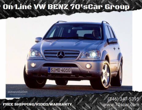 2003 Mercedes-Benz M-Class for sale at On Line VW BENZ 70'sCar Group in Warehouse CA