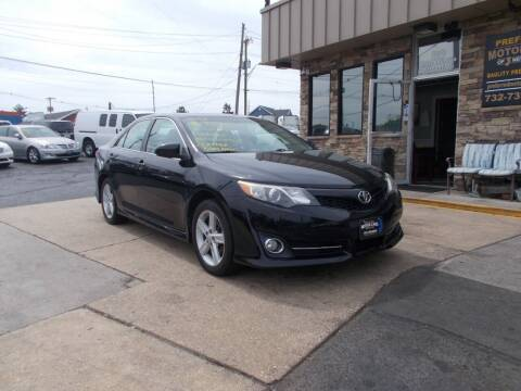 2012 Toyota Camry for sale at Preferred Motor Cars of New Jersey in Keyport NJ