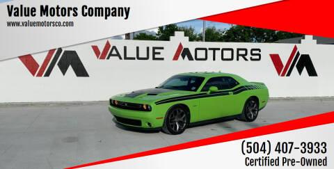 2015 Dodge Challenger for sale at Value Motors Company in Marrero LA