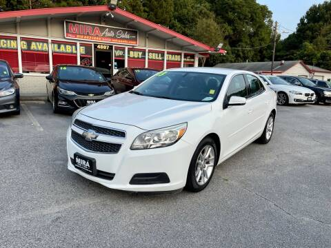2013 Chevrolet Malibu for sale at Mira Auto Sales in Raleigh NC