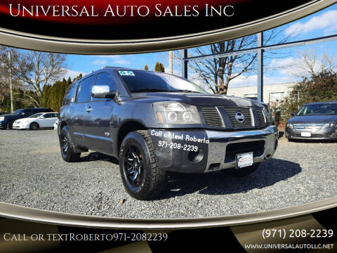 2005 Nissan Armada for sale at Universal Auto Sales Inc in Salem OR