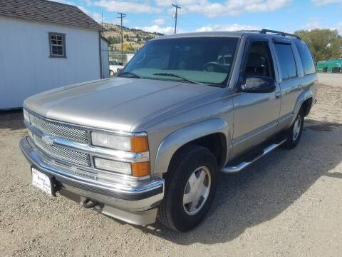 1999 Chevrolet Tahoe for sale at AUTO BROKER CENTER in Lolo MT