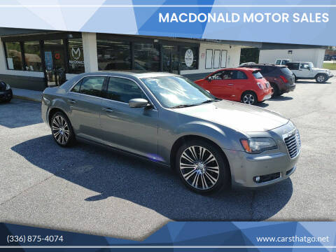 2012 Chrysler 300 for sale at MacDonald Motor Sales in High Point NC