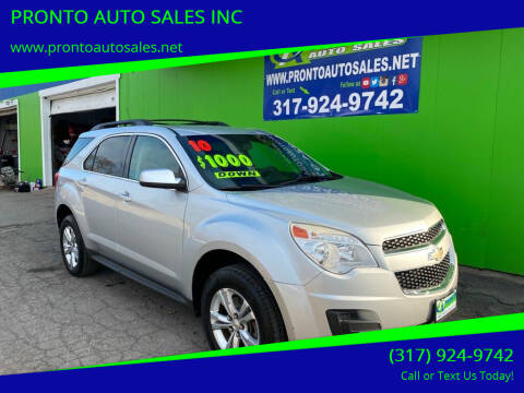 2010 Chevrolet Equinox for sale at PRONTO AUTO SALES INC in Indianapolis IN