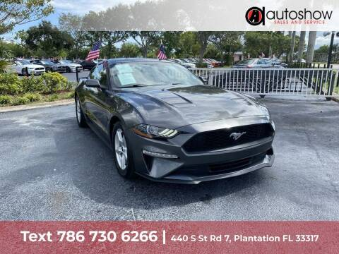 2018 Ford Mustang for sale at AUTOSHOW SALES & SERVICE in Plantation FL