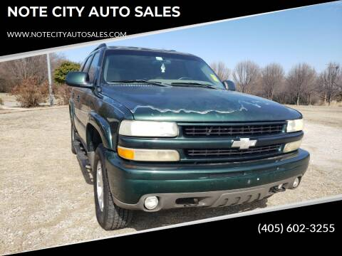 2001 Chevrolet Tahoe for sale at NOTE CITY AUTO SALES in Oklahoma City OK