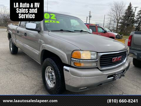 2002 GMC Sierra 1500HD for sale at LA Auto & RV Sales and Service in Lapeer MI