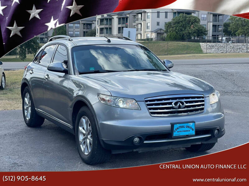 2007 Infiniti FX35 for sale at Central Union Auto Finance LLC in Austin TX