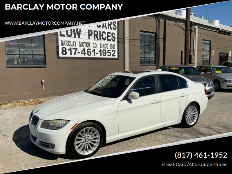 2011 BMW 3 Series for sale at BARCLAY MOTOR COMPANY in Arlington TX