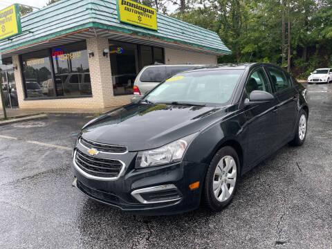 2016 Chevrolet Cruze Limited for sale at Diana Rico LLC in Dalton GA