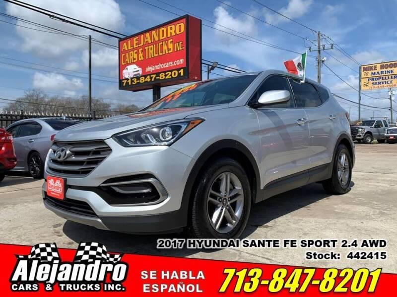 2017 Hyundai Santa Fe Sport for sale at Alejandro Cars & Trucks Inc in Houston TX