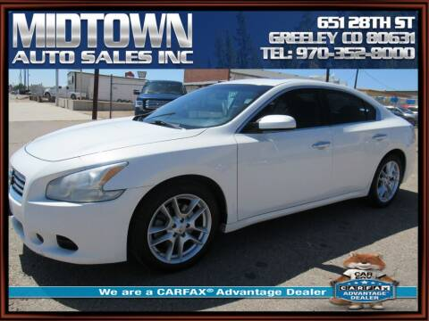 2012 Nissan Maxima for sale at MIDTOWN AUTO SALES INC in Greeley CO