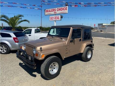 1999 Jeep Wrangler for sale at Dealers Choice Inc in Farmersville CA