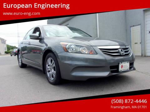 2012 Honda Accord for sale at European Engineering in Framingham MA
