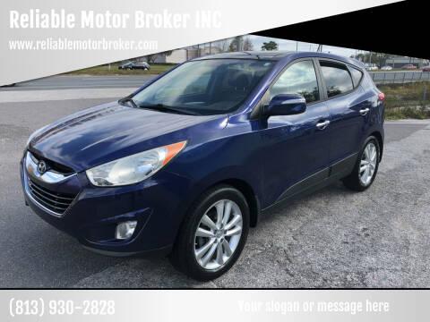 2011 Hyundai Tucson for sale at Reliable Motor Broker INC in Tampa FL