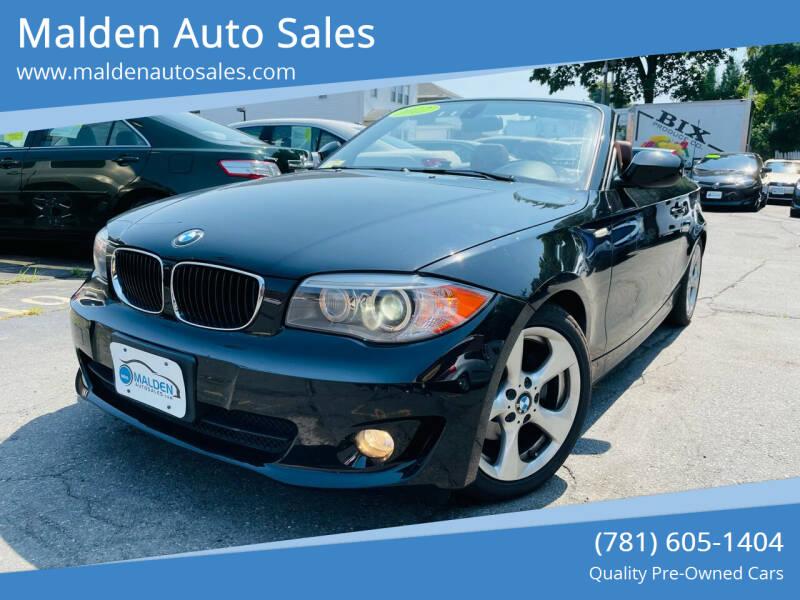 2012 BMW 1 Series for sale at Malden Auto Sales in Malden MA