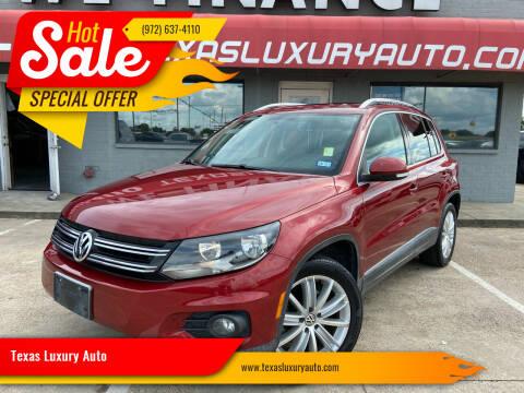 2012 Volkswagen Tiguan for sale at Texas Luxury Auto in Cedar Hill TX