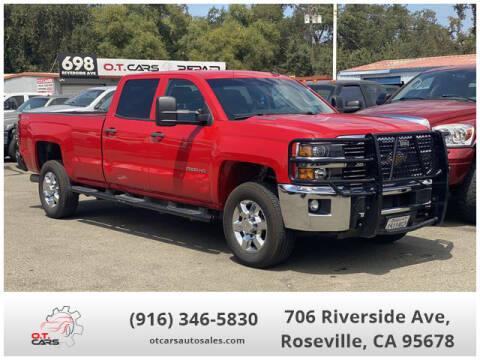 2015 Chevrolet Silverado 2500HD for sale at OT CARS AUTO SALES in Roseville CA