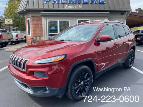 2015 Jeep Cherokee for sale at Premiere Auto Sales in Washington PA