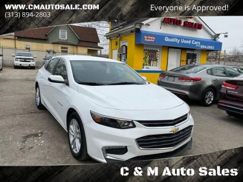 2016 Chevrolet Malibu for sale at C & M Auto Sales in Detroit MI
