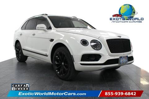 2017 Bentley Bentayga for sale at Exotic World Motor Cars in Addison TX