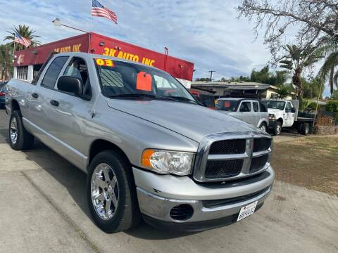 2003 Dodge Ram Pickup 1500 for sale at 3K Auto in Escondido CA