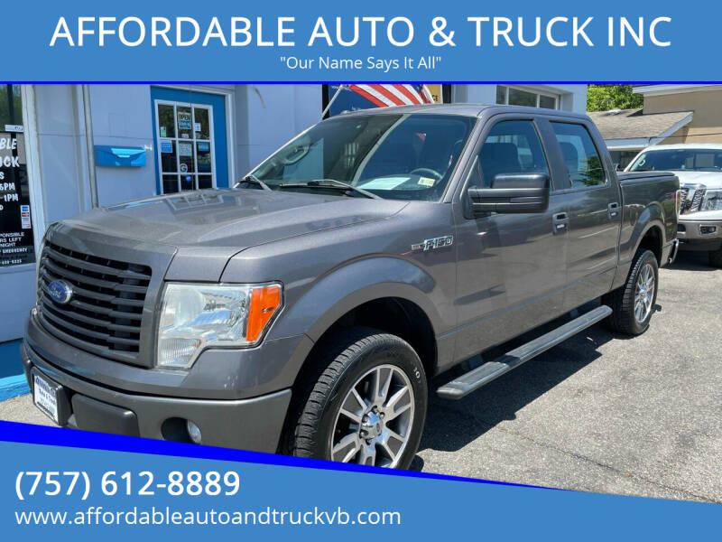 2014 Ford F-150 for sale at AFFORDABLE AUTO & TRUCK INC in Virginia Beach VA