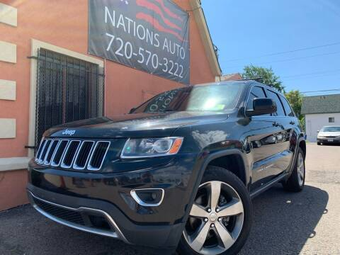2014 Jeep Grand Cherokee for sale at Nations Auto Inc. II in Denver CO
