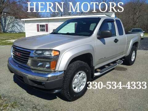 2005 GMC Canyon for sale at Hern Motors - 2021 BROOKFIELD RD Lot in Hubbard OH