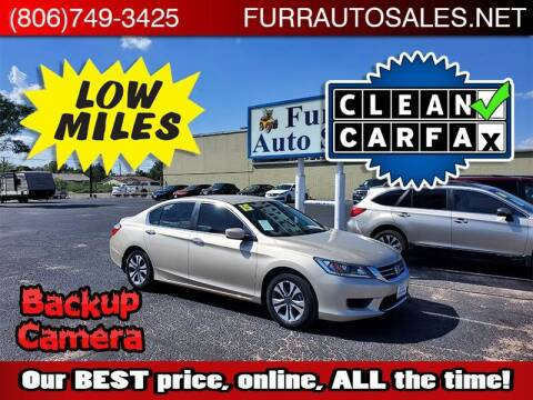 2015 Honda Accord for sale at FURR AUTO SALES in Lubbock TX