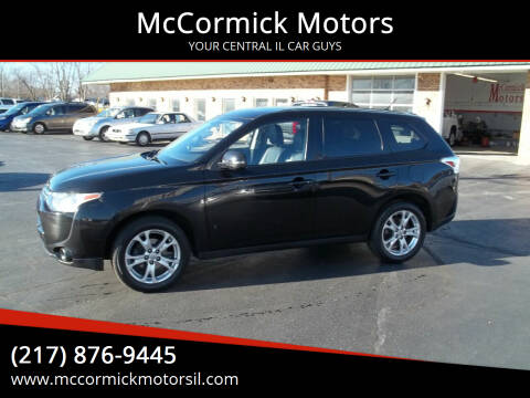 2014 Mitsubishi Outlander for sale at McCormick Motors in Decatur IL