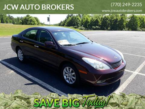 2004 Lexus ES 330 for sale at JCW AUTO BROKERS in Douglasville GA