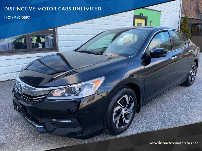 2017 Honda Accord for sale at DISTINCTIVE MOTOR CARS UNLIMITED in Johnston RI