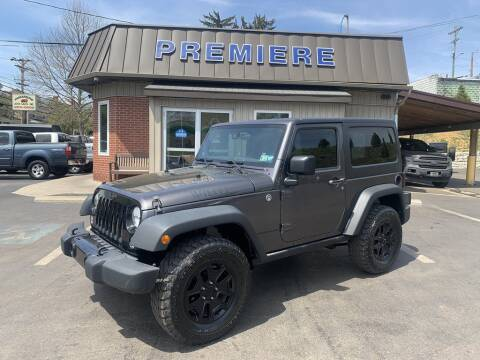 2014 Jeep Wrangler for sale at Premiere Auto Sales in Washington PA