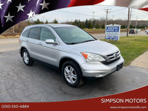 2011 Honda CR-V for sale at SIMPSON MOTORS in Youngstown OH