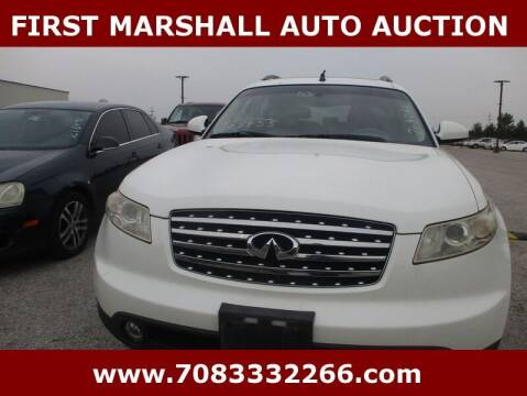 2003 Infiniti FX35 for sale at First Marshall Auto Auction in Harvey IL