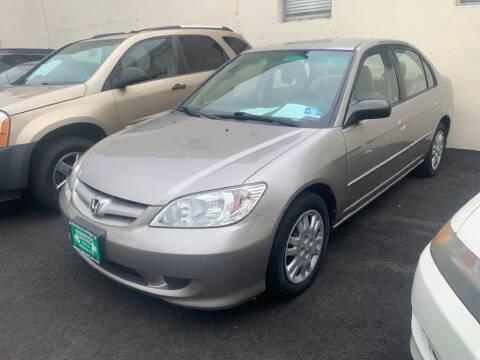 2004 Honda Civic for sale at Park Avenue Auto Lot Inc in Linden NJ