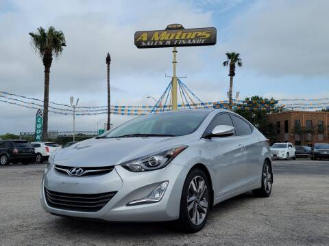 2016 Hyundai Elantra for sale at A MOTORS SALES AND FINANCE in San Antonio TX