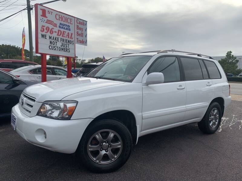 2006 Toyota Highlander for sale at 1st Choice Auto Sales in Newport News VA